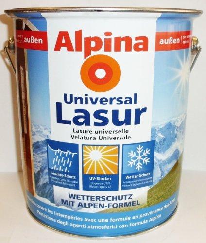 Alpina Universal Holzlasur, Teak, 4 Liter, außen