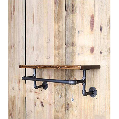 YUHT Weinregal Flaschenregal Vintage alte Schmiede Klempner Regal Wand hängend Rack-Schuhregal Weinregal Wandmassivholz-Laminat Regal-Aufhänger, 100 * 20 * 2cm