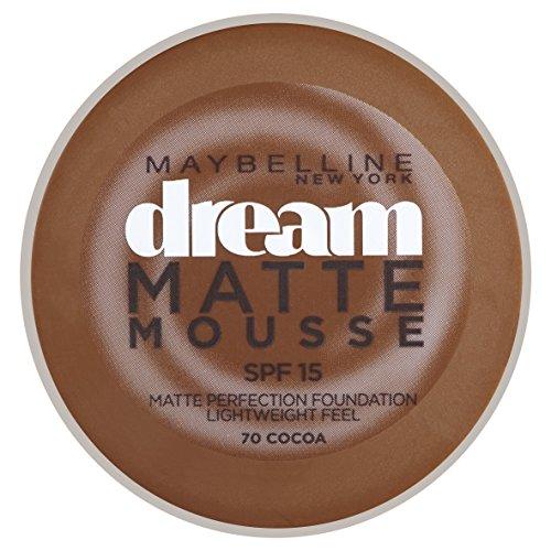 Maybelline Dream Matte 70 Cocoa Cazuela Crema - base de maquillaje (Cocoa,...