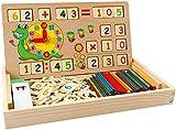 babyhelen giocattoli educativi di conteggio giochi matematica montessori scatola di apprendimento lavagna gioco aritmetico in legno calcolo numeri giocattolo per scuola materna