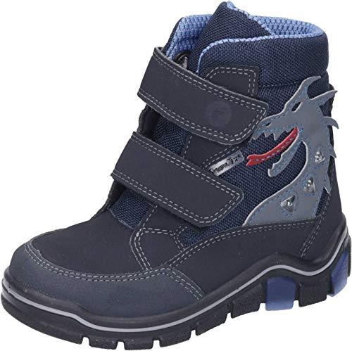 RICOSTA Kinder Winterstiefel GRISU,Weite: Weit (WMS),wasserfest,Blinklicht,wasserdicht Winter-Boots Outdoor-Kinderschuhe,See/Ozean,29 EU / 11 Child UK