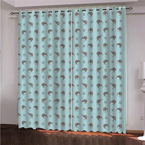 DOORWD Cortina Opacas Dormitorio Moderno con Aislamiento Térmico Pint