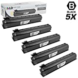 LD Compatible Toner Cartridge Replacement for Toshiba T-FC25-K (Black, 5-Pack)