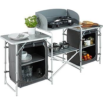 TecTake 800585 Cuisine de Camping Meuble de Jardin - Divers modèles - (Type 1 | n° 402919)