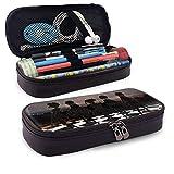 Estuche de lápices de gran capacidad Bolígrafo de almacenamiento grande Estuche de lápices Organizador de caja Práctico bolso con cremallera para escuela y oficina - 7.88x3.54x1.58 pulgadas - Maho