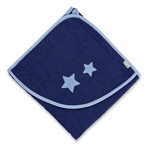 Sterntaler Serviette de bain à capuche Stanley, Âge: à partir de 0 Mois, 100 x 100 cm, Bleu