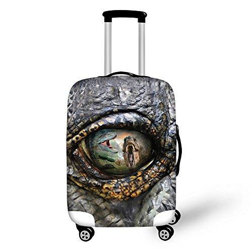 Funda elástica con ojos de dinosaurio para maleta de 18 a 28 pulgadas con cremallera