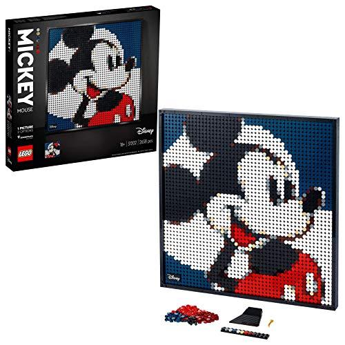 LEGO 31202 Art Disney\'s Mickey Mouse Set, Poster, Wanddekoration, DIY Puzzle für Erwachsene