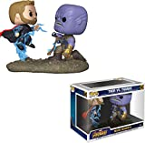 Funko- Pop Bobble 2-Pack: Marvel: Movie Moments: Thor vs Thanos Figura Coleccionable, Multicolor, Ta...