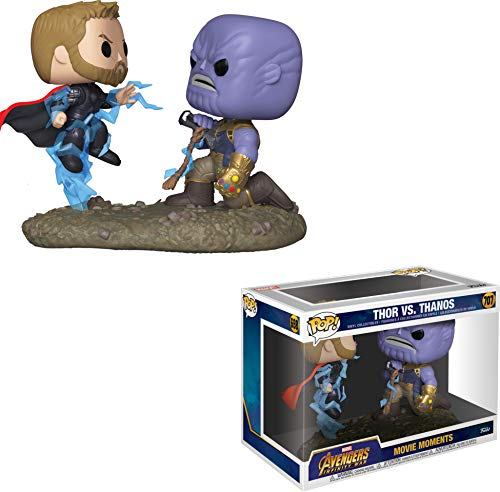 Funko - Pop! Bobble 2-Pack: Marvel: Movie Moments: Thor vs Thanos Figura Coleccionable, Multicolor (35799)