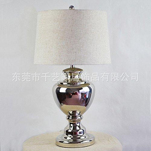 Bbslt americano moderno metallo argento argenteria lampada da tavolo casa salotto complesso lampada da tavolo in metallo