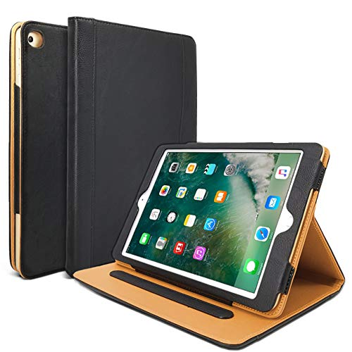 Danycase New iPad 2018/2017 9.7 inch Case 5th/6th Generation Auto Sleep/Wake Cover Stand Folio Cover Case for Apple iPad 9.7 inch, Also Fit iPad Air 2 / iPad Air(Black)