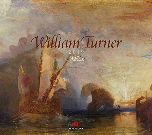 William Turner 2019, Wandkalender im Querformat (54x48 cm) - Kunstkalender (Romantik / Impressionismus) mit Monatskalendarium