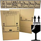 Storm Trading 5 x Strong Cardboard Storage Packing Moving House Boxes Double Walled