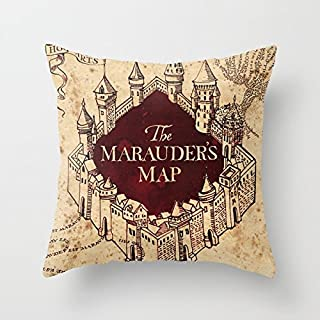 Foalrm Marauders Map Throw Pillow by Tanzra Animal 1818inches