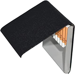 Ultrathin Pocket Leather Case for Cigarettes,Business Cards or Bank Cards/Cigarette Box (Frosted Black)