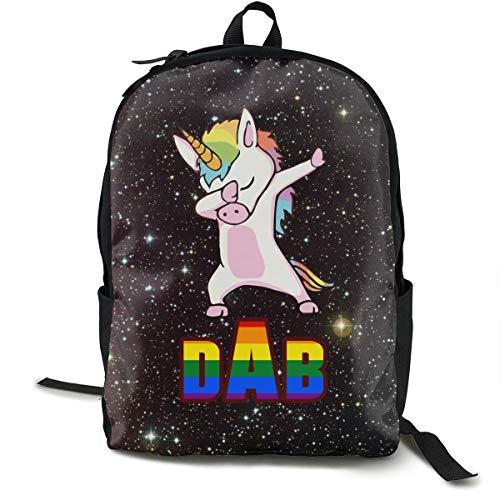 Mochila Escolar con diseño de Unicornio y arcoíris para Danza