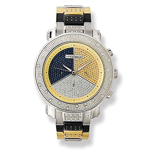 JoJino TISZA IJ-1022. 50.50 MM . ROUND. MENS Diamond Watch. (WHITE)