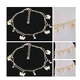 suchada j.shop Women Charm Gold Butterfly Ankle Chain Anklet Bracelet Foot Jewelry Sandal Beach
