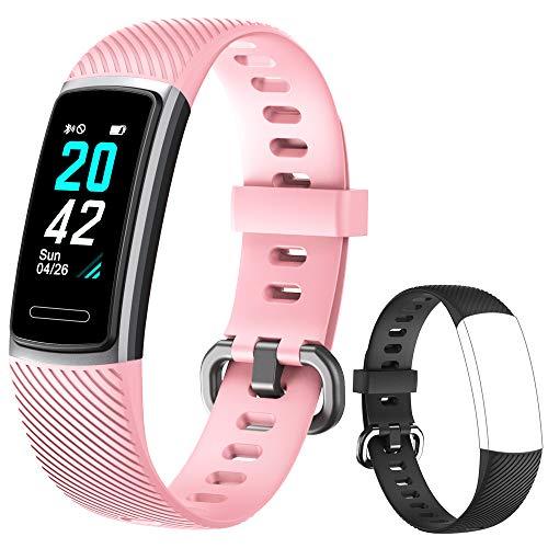 Yishark Pulsera Actividad Reloj Inteligente Mujer Fitness Tracker Niños Hombres Podómetro Reloj Deportivo Monitor de Sueño Pulsómetros Contador de Calorías Pasos Reloj Salud