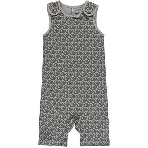 Maxomorra Baby Kinder Playsuit Gr.50-80 Spieler Jumpsuit Strampler grau neu!, Größe:50/56