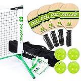 Pickle-Ball, Inc. Pickleball Diller Tournament Net Set (Set Includes Metal Frame + Net + 4 Paddles +...