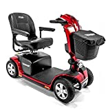 Victory 10.2 Red Pride Mobility 4-Wheel Electric Scooter S7102 + Front Basket Bag