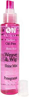 On Organic Natural Premium Oil Free Weave & Wig Shine Mist, Pomegranate 4.5 oz