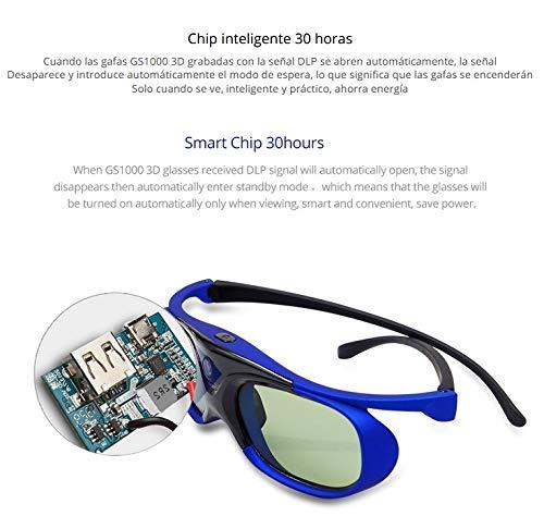 DishyKooker - Gafas 3D para proyector DLP (batería Universal, 96 ...