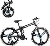 26 inch Folding Mountain Bikes with 21 Speed,...