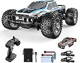 Coche teledirigido DEERC 1:10 RC Coche de carreras 4WD Offroad Monstertruck 48 km/h con carcasa de 2 cuerpo, 2 baterías para adultos y niños (9200E)