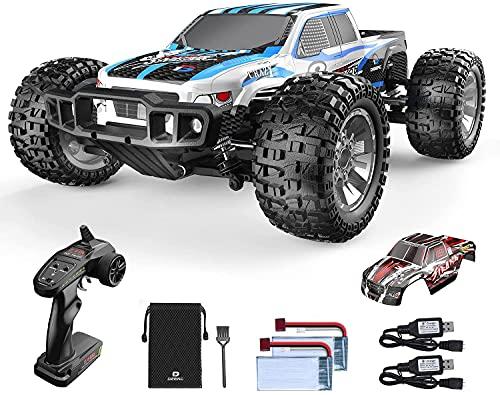 Ferngesteuertes Auto, DEERC 1:10 Offroad-Car 4WD 48 km/h Geländewagen-Spielzeug mit 2 Shell, 2 Akkus für 40 Min. Laufzeit , 2,4-GHz -Fernbedienung für Erwachsene und Kinder (9200E)