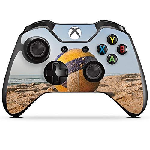 DeinDesign Skin kompatibel mit Microsoft Xbox One Controller Folie Sticker Volleyball Sand Hobby