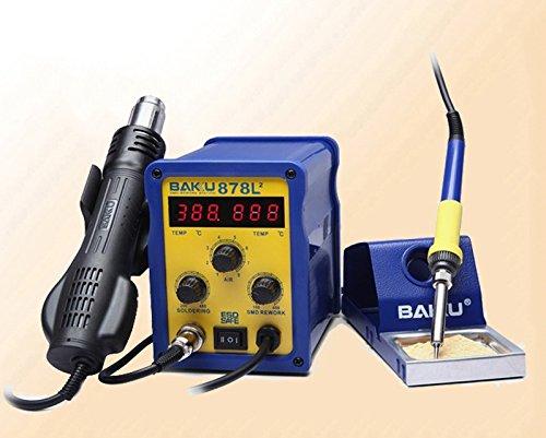 kohstar 1pc Baku BK-878L2 led Digital Display SMD Brushless Hot Air Rework Station + Soldering Iron and Heat Gun for Cell Phone Repair