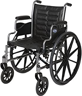 Lightweight Manual Wheelchair (Invacare Tracer EX2 - Size 18 x 16 - Medium, TREX28RP w/Elevated Legrests, T94HA & Removable Desk-Length Arms)