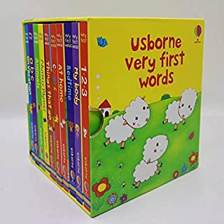 Coloring Book - 10 Books/Set USborne Very First Words Board Book For Children English Book For Kid Enlightenment Read Stor...