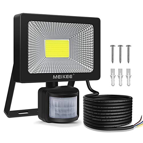 MEIKEE 20W LED Strahler mit Bewegungsmelder 2000 LM superhell LED Fluter IP66 wasserdicht Außenstrahler Flutlichtstrahler Scheinwerfer Licht, ideale Wandleuchte für Garten, Garage, Sportplatz