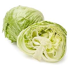 Organic Iceberg Lettuce, One Head