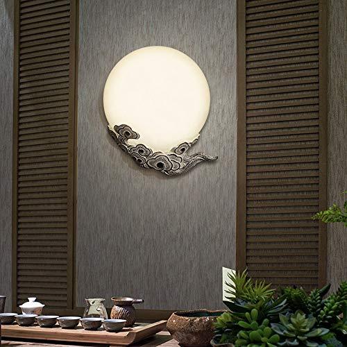 Yangmanini Creative Cloud Luna Lámpara De Pared LED, Deco De Iluminación For La Sala De Estar/Hotel/Club/Corredor/Pasillo/Comedor/Dormitorio 35 * 25 * 7CM (Color : A)