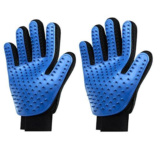 Generieke 2 stuks Right hand huisdier-reinigingsborstel-magische handschoenen, blauw (2-pack)