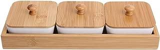Plato para servir, bandeja para servir bocadillos con tapa para alimentos, bocadillos, condimentos, aperitivos(#2)