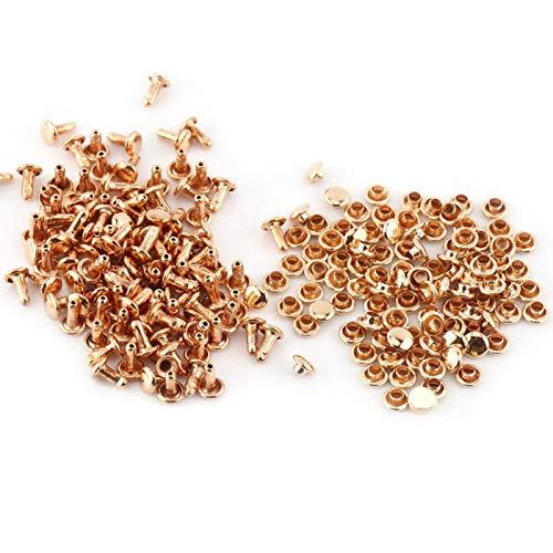 HEEPDD Cuero de los Remaches de latón, Remache de Cuero de la decoración del Metal para la decoración de Las Reparaciones del Arte del Cuero(Guangdong Gold)