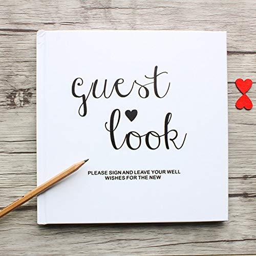 siqiwl Libro de visitas Blanco Boda Libro de Visitas Alternativas, Boda Libro de Visitas Signo de Libro de Visitas