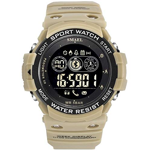 Relógio masculino Smael Display Led 1602 à prova d´ água (Bege)