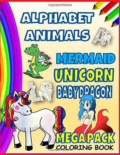 MEGA PACK alphabet animals mermaid unicorn baby dragon coloring book