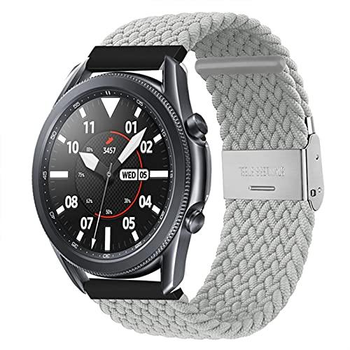 PAZHOU Banda de Bucle Solitario Trenzado para Galaxy Watch 3 45mm 41mm Banda de Nylon Ajustable para Galaxy Watch 46mm 42mm Activo 2 44mm 40 mm Activo 2