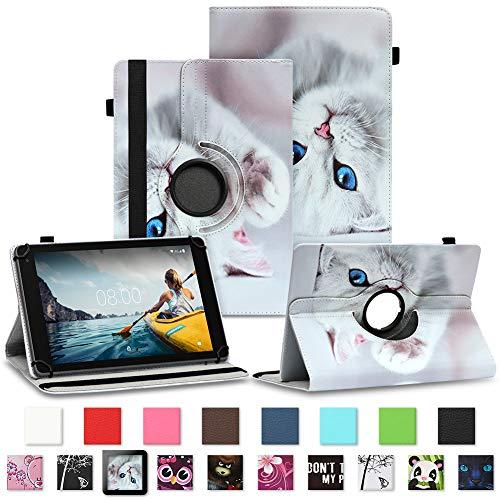 NAUC Tablet Schutzhülle Medion Lifetab P8502 P8513 Tablet Hülle Tasche Standfunktion 360° Drehbar Farbauswahl Cover Hülle Universal Schutzhülle, Farben:Motiv 7