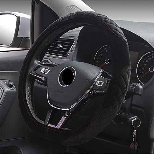 """HONCENMAX D Typ Fahrzeug Lenkradabdeckung Auto Lenkradschutz D-Form Durchmesser 38cm (15\"""") Plüsch"""