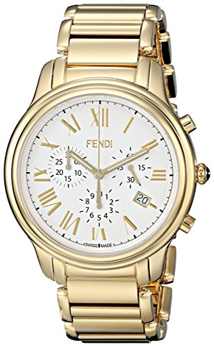 Fendi Classico Men's 42mm Chronograph Synthetic Sapphire Quartz Watch...
