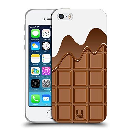 Head Case Designs Cioccolata Sciolta Ciccolata Cover in Morbido Gel e Sfondo di Design Abbinato Compatibile con Apple iPhone 5 / iPhone 5s / iPhone SE 2016